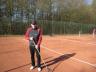 Tennisplatzsäuberung